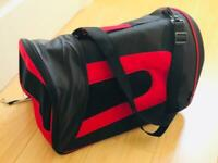 Brand New Barkhaus Collapsible Pet Carrier - Black & Red