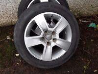 "Audi vw scoda 16"" alloy wheels nice condition golf passat polo lupo a4 a3"