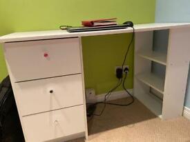 Habitat Malibu 3 Drawer Office Desk (table) -White,