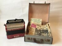 Beautiful 1960's Hohner, Double Ray, Black Dot, Melodeon/ Accordion