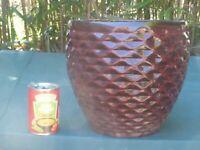 Red Glazed Terracotta Garden Planter Garden Pot 26½cm tall (1105)