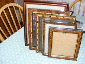 Collection of mixed decrotive photo frames