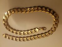 VERY HEAVY Solid Gold Curb Chain