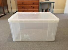 Very large plastic storage box