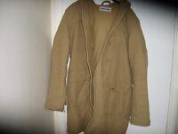 mens genuine lambretta duffle coat,,as new,,cost £160,,large size
