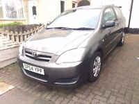 toyota corolla, 2004, petrol 1.4, tax and mot ready to drive, good condition