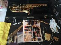 Alto saxophone with extras