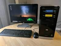 """HP Computer & 20"""" LCD Monitor"""