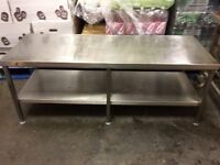 Stainless steel table for sale (No reasonable offer refused)