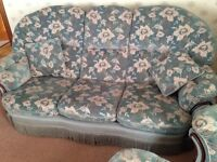 Suite of furniture 3 - 1 - 1 (sofa, armchairs, footrest)
