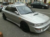 subaru impreza wrx classic. some light mods
