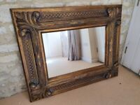 Large mirror - Gold wooden frame