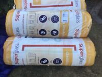 NEW superglasss fibre glass insulation x5 large rolls