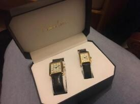 2 watches man and woman's