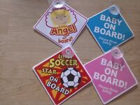 Baby Car Sign (4 designs)