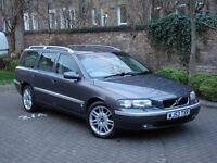 EXCELLENT DIESEL! 2003 VOLVO V70 2.4 D5 AUTO SE 5DR ESTATE, FULL LEATHER, HALF LEATHER, LONG MOT
