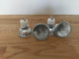 4 x halogen light bulbs GU10