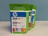 3 HP 344 Tri-color inkjet print cartridges (2 packs)