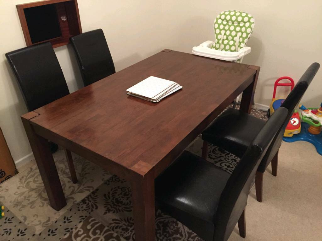 Solid Wood Walnut Homebase Michigan Dining Table In Sutton London Gumtree