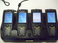 4XMOTOROLA HC700 F3131A HAND-HELD DATA COLLECTION SMARTPHONE WITH CHARGER DOCKIN