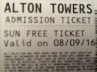 2 x Alton towers tickets