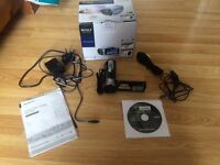 Sony handycam comes with all cables, instructions and box. Used once.