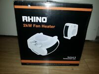Rhino 2kW Fan Heater + Cool Air Boxed A+ Energy Efficient