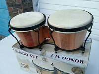 Boxed Set of Bongo Drums with Educational CD