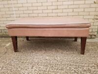 1 x Brown Leather Bench, Job Lot, Pub / Dining Furniture, Used