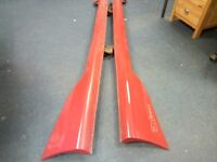 Honda Civic EP3 Type R Side Skirts OEM Milano Red