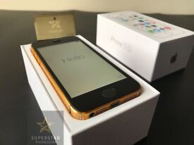 iPhone 5S 16GB Limited Edition Gold encrusted with Swarovski Crystals  New Unlocked