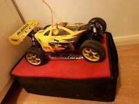 Nitro powered rc car with carrier bag and fuel