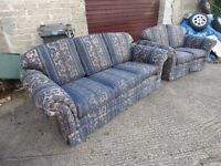 Hand made chesterfield suite only £150 sofa settee chair