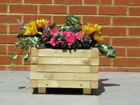 For sale brand new wooden garden planter. Two sizes available.
