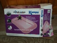 2 x Kampa candyfloss pink junior airbed with foot pump. Air Lock system, Leak Proof