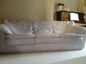 Natuzzi Leather 3 seater Sofa