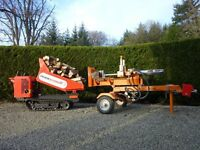 Mobile Log Splitting. Your felled timber split to size, ready for your stove.