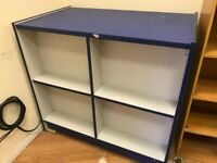 BLUE WOODEN COUNTER FOR SALE 100CM X 59CM FOR SHOP DISPLAY RETAIL
