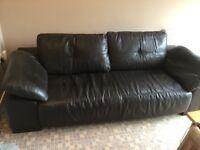 3/4 Seater Leather Sofa