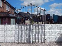 wrought iron gates / metal gates / steel gates / garden gates / entry gates / side gates / driveway