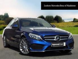 Mercedes-Benz C Class C200 D AMG LINE PREMIUM (blue) 2017-09-01