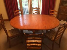 Jaycee Extendable Light Oak Table and 6 Chairs