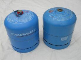 """""""907"""" GAS BOTTLES X 2, IDEAL CAMPERVAN, MOTORHOME, CARAVAN OR BOAT."""
