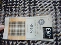 NEXT Charcoal Astley 100% Wool Rug 100x150 Brand New & Sealed