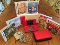 Nintendo DSi in Red plus 6 Puzzle/Mind Games