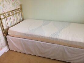 Single Bed, Mattress & Headboard