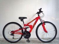 """(2060) 24"""" 12"""" APOLLO FS.24 BOYS GIRLS KIDS CHILD MOUNTAIN BIKE BICYCLE Age: 8-12 Height 130-150 cm"""