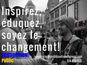 Collectez des fonds pour Oxfam Québec ! 16$/heure