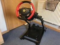 Theustmaster 458 steering wheel and GT omega racing stand
