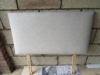 cream singlebed headboard